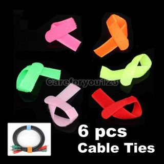Velcro Cable Management Ties 6 Foot Wire Cord Straps