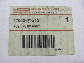 Nissan 17042 01G12 Fuel Pump Genuine Bosch USA Built Only Trucks