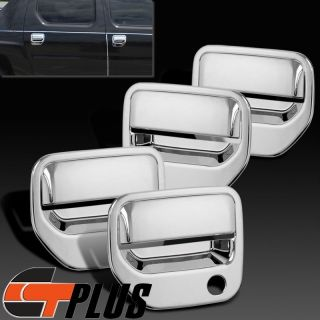 2006 2013 Honda Ridgeline Pickup Truck Triple Chrome Door Handle Cover Trim Set