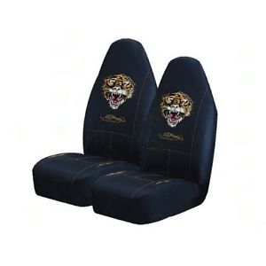 2 New Ford Bronco Mustang Fusion Ed Hardy Tiger Bucket Seat Covers Car Truck SUV