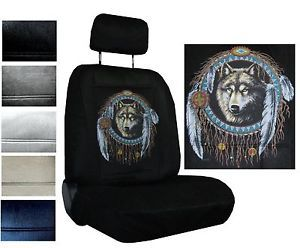 Seat Covers Car Truck SUV Native Wolf Dreamcatcher Low Back PP 4