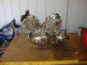 89 Yamaha XV750 XV 750 Virago Engine Motor 28 118 Miles Videos Inside 133 40