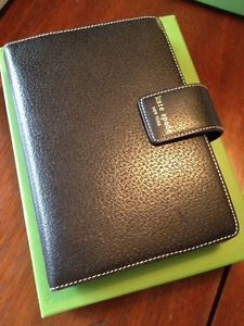 Kate Spade Black Leather Calendar Planner Personal Elyce Organizer
