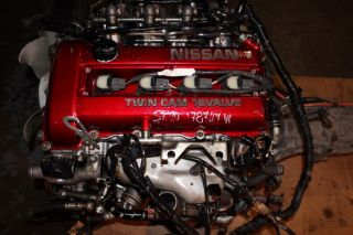 JDM Nissan Silvia SR20DET s13 Red Top Engine 5 Speed rwd Transmission 180sx Sr20