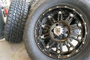 "20"" XD795 Hoss Gloss Black Wheels Rims 275 60R20 Nitto Terra Grappler at Tires"