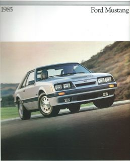1985 Dealer Sales Ford Mustang Brochure LX GT Convertible SVO Turbo