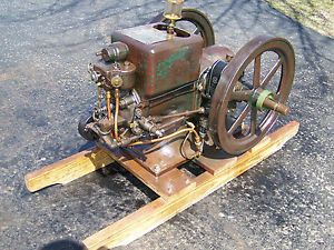 Old Nice Original 1 1 2HP International Harvester Type M Gas Engine Hit Miss WOW
