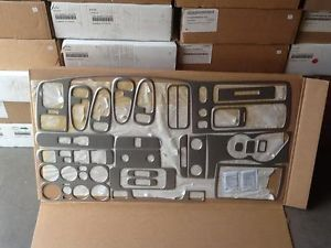 2000 02 Mitsubishi Montero Sport Brushed Aluminum Finish Dash Kit