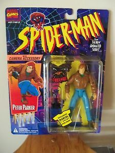 Marvel Comics Toy Biz Spider Man Peter Parker Figure w Camera Accessory