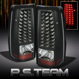 99 02 Silverado 99 03 Sierra Pickup Black LED Tail Lights Lamps Left Right