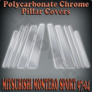 Mitsubishi Montero Sport 97 04 10pc Chrome Pillar Covers Scratch Resistant B C