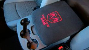Center Console Cover Embroidered for Dodge RAM Armrest SUV Truck Seat