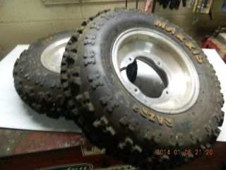 Maxxis RAZR 2 YFZ 450 Yamaha Raptor Banshee Warrior Front Tires and Wheels