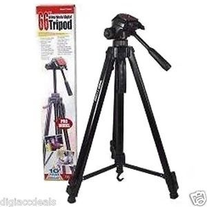 Vid Pro 66' Pro Heavy Duty Fluid Head Tripod for All Cameras and Camcorders 26127320340
