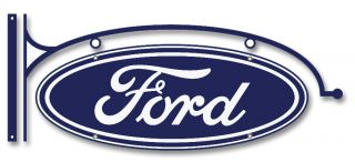 Vtg Style Ford Logo Tin Metal Sign Hot Rod Rat Garage Old School Retro Custom