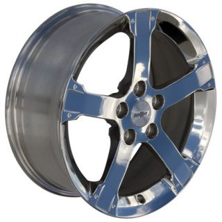 "17"" Polished Equinox 5274 Wheels Set of 4 Rims Fits Chevrolet"
