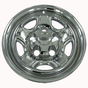 "1 PC Dakota 16"" Chrome Wheel Skin Cover Hub Cap Truck Steel Wheels Rims 5 Lug"