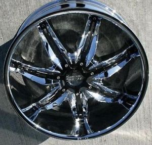 "22"" Wheels Rims and Tire Package Starr 777 Triple Chrome 5x120 ET35 Accord Camry"