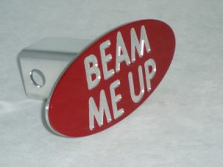 Beam Me Up Star Trek Truck Trailer Hitch Plug Cover Machined Aluminum Gift Idea