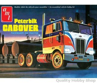 AMT 1 25 Scale Peterbilt Cabover Pacemaker Skill 2 Plastic Model Kit 759