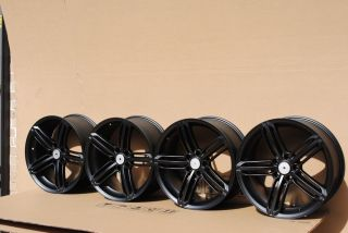 19 Audi RS4 Style Fit A3 A4 A6 S4 S8 RS4 RS6 TT Wheels Rims Matt Black
