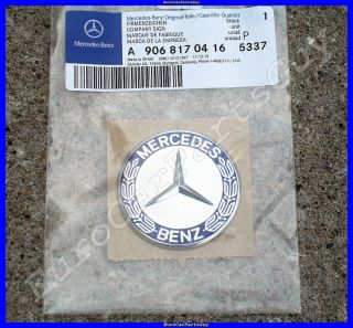 2007 2012 Mercedes Benz Sprinter Front Hood Emblem Badge w Adhesive Backing New