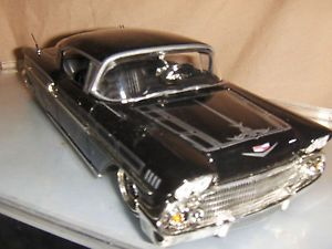 Toy Jada Dub 1 24 Black 1958 Chevy Impala Diecast Old Skool Car w Spare Tire