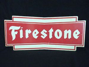 Vintage Firestone Tire Gas Station Sign Race Car Garage Fan Valentines Day Gift