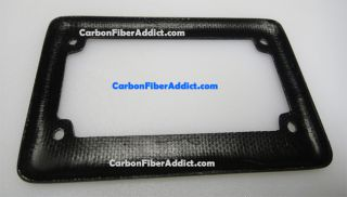 2x2 Weave Pattern 100 Real Carbon Fiber License Plate Frame for Motorcycle