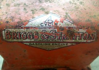 "Vintage Briggs Stratton 2 5HP Engine No 81102 ""Supreme 4 Cycle"""