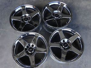2003 2004 Mustang Cobra 17x9 Chrome Wheels Rims SVT
