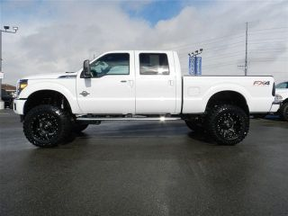 Ford Crew Cab Powerstroke Diesel Lariat 4x4 Custom New Lift Wheels Tires Nav