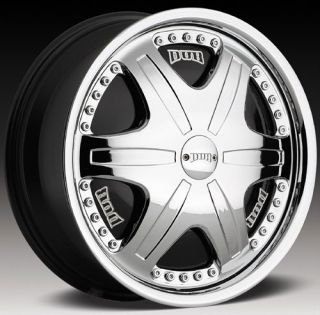 "20"" Dub Trump Spinners Floaters MHT Chrome Wheels"