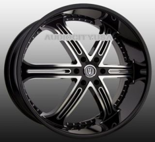 "22"" VT 226 BM Wheels and Tires Rims for Chevy Tahoe Escalade Yukon RAM Ford"