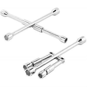 Folding 4 Way Lug Wrench Lug Nuts Tire Wheel