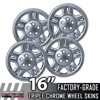 "2007 2010 Dodge Nitro 16"" Chrome Wheel Skins Covers"