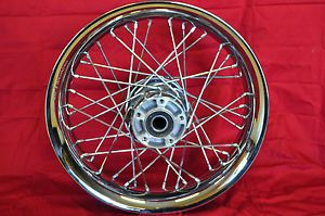"Harley Chrome Front Smoothie Spoke Wheel Rim 16"" x 3"" FLHX Street Glide"