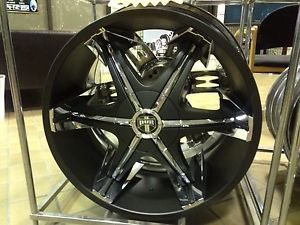 "26"" Dub Big Homie Shooz Black 6 Lug Rims Chevy GMC Cadillac Ford asanti Forgiato"