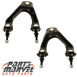 Pair Upper Control Arms 2 Lower Ball Joints Honda Accord 1990 93