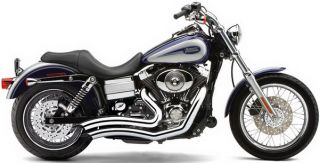 Cobra Exhaust Speedster Short Swept Chrome Harley Dynas FLD Switchback 2012
