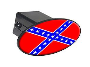 "Rebel Confederate Flag 2"" Tow Trailer Hitch Cover Plug Insert"
