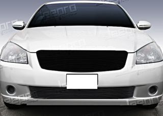 05 06 Nissan Altima Lower Bumper 1pc Replacement Black Billet Grille Insert