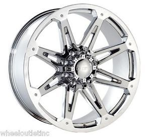 "24"" Dcenti 901 Chrome Wheels Rims Tires Hummer H2 Dodge 8 Lug Ford Chevy 22 20"