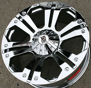 "KMC XD Series Monster 778 24"" Chrome Rims Wheels Ford F 250 F250 8H 98 Up"
