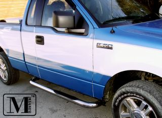 04 08 Ford F150 Reg Cab Excl Heritage Chrome Side Step Stainless Nerf Bars