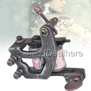 10 Wraps Coils Cut Back Liner Carbon Steel Tattoo Machine Gun Shader Line