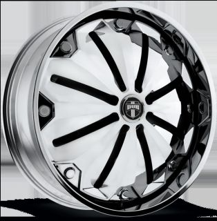 "28"" Dub Spin Chill S727 Wheel Set 28x10 Chrome Rims for 5 6 Lug Vehicle 28INC"