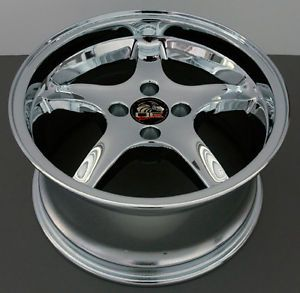 "17"" 8 9 Chrome Cobra Wheels Rims Fit Mustang® 79 93"