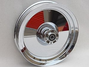 "Harley Davidson Softail FLSTC FLSTF 16"" Mirror Chrome Front Wheel New"