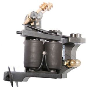 Woody Black Shader Tattoo Machine Gun 10 Wrap Coils Handmade Tattoo Machine